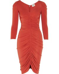 Alice By Temperley | Red Molina Ruched Jersey Dress | Lyst