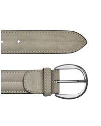 A.Testoni | White Mens Ivory Suede Calf Leather Belt for Men | Lyst