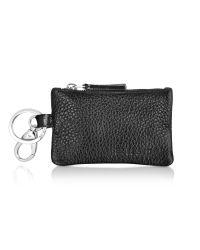 A.Testoni | Black Caribou Leather Pouch Key Ring | Lyst