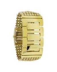 DKNY - Metallic Gold Bracelet Watch - Lyst