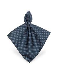 FORZIERI | Purple Mini Polkadot Twill Silk Pocket Square for Men | Lyst
