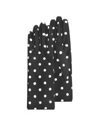 FORZIERI - Womens Black and White Polkadot Gloves - Lyst