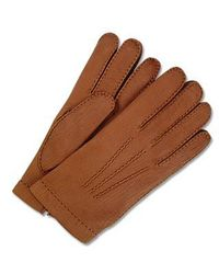 FORZIERI - Men's Cashmere Lined Brown Italian Calf Leather Gloves for Men - Lyst