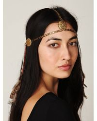 Free People | Metallic Dripped Chains Headpiece | Lyst