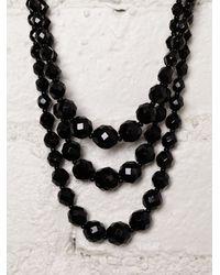 Free People - Black Vintage Austrian Crystal Necklace - Lyst