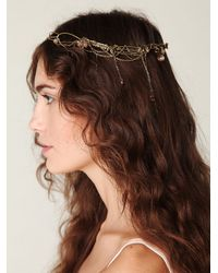 Free People - Metallic Lost Garden Headpiece - Lyst