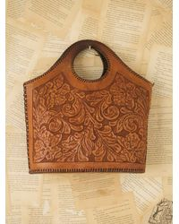 Free People | Brown Vintage Western Tooled Bag | Lyst