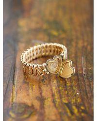 Free People - Metallic Vintage Stretch Heart Bracelet - Lyst