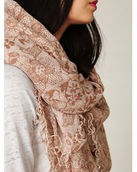 Free People | Natural Amphora Lace Scarf | Lyst