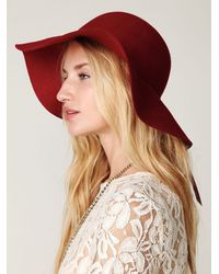 Free People | Red Jenny Floppy Hat | Lyst