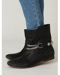 Free People | Black Western Concho Rider Boot Chain | Lyst