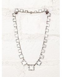 Free People - White Vintage Czechoslovakian Crystal Necklace - Lyst
