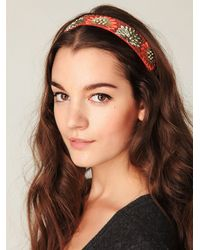 Free People - Multicolor Embroidered in Floral Headband - Lyst