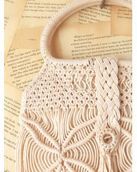 Free People - Natural Vintage Macrame Bag - Lyst