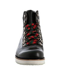Gucci | Black Leather Lace-up Boots for Men | Lyst