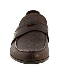 Gucci - Dark Brown Diamante Slip-on Loafers for Men - Lyst