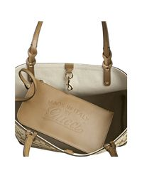 Gucci - Natural Cigar Gg Canvas Tote Bag - Lyst