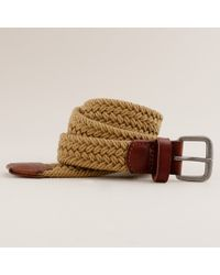 J.Crew | Natural Cotton Braided Belt for Men | Lyst