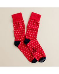 J.Crew | Black Corgi™ Lightweight Pattern Socks for Men | Lyst