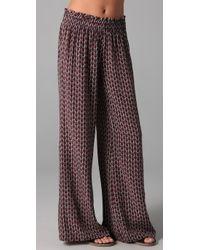 Joie | Purple Charleen Printed Pants | Lyst