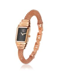 Just Cavalli | Pink Eshmay - Rose Gold Plated Mesh Bracelet Watch | Lyst