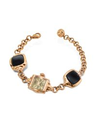 KENZO - Pink Kichou - Rose Gold Plated Bracelet Watch with Onyx - Lyst