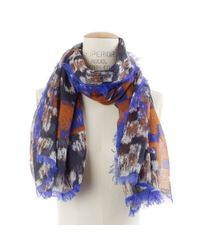 Madewell | Blue Houndstooth Collage Scarf | Lyst