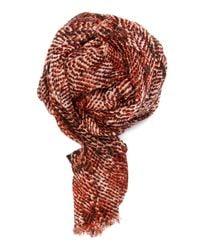 Mango - Red Snake Foulard - Lyst