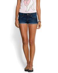 Mango | Blue Fitted Mini Shorts | Lyst