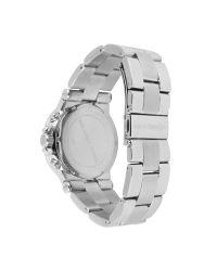 Michael Kors - Metallic Oversized Chronograph Watch with Glitz - Lyst