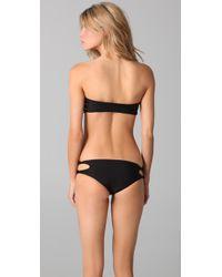 Mikoh Swimwear | Black Monaco Bikini Top | Lyst