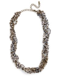 ModCloth - Metallic Intertwine and Shine Necklace - Lyst