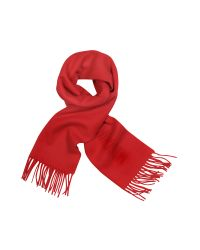 Moschino | Red Signature Solid Wool Fringed Long Scarf | Lyst
