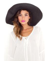 Nasty Gal | Black Hamptons Straw Hat | Lyst