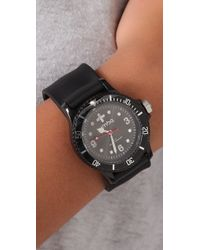 Rumbatime - Black Lights Out Perry Slap Watch - Lyst