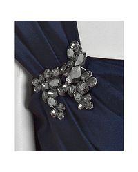 Tadashi Shoji - Blue Midnight Taffeta Long Dress with Stole - Lyst