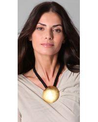 Theodora & Callum | Metallic Sand Dollar Necklace | Lyst