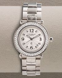 Charriol - Metallic Diamond Watch - Lyst