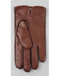 Club Monaco - Brown Leslie Slit Gloves - Lyst