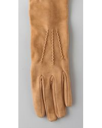 DSquared² - Natural Long Leather Gloves - Lyst