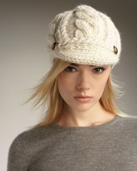 Eugenia Kim - White Scarlett Cable-knit Cap - Lyst