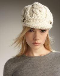 Eugenia Kim | White Scarlett Cable-knit Cap | Lyst