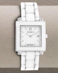 Fendi | Ceramic Quadro Watch, Large White | Lyst