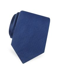 FORZIERI | Blue Gold Line Solid Classic Woven Silk Tie for Men | Lyst