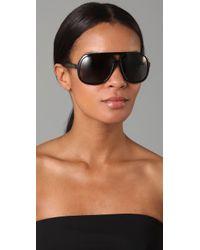 Gucci | Black Oversized Aviator Sunglasses | Lyst