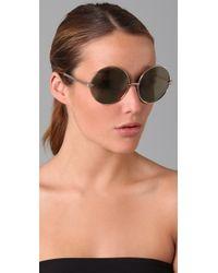 Karen Walker - Metallic Von Trapp Sunglasses - Lyst