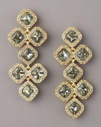kate spade new york | Black Pave Crystal Chandelier Earrings | Lyst