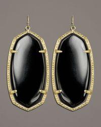 Kendra Scott - Black Danielle Earrings (rhodium/abalone Shell) Earring - Lyst