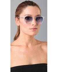 LNA | White Rialto Sunglasses | Lyst