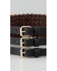 M Missoni - Black Three Buckle Belt - Lyst